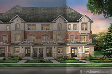 The Lincoln new home model plan at the The Classic Townhomes by Liv Communities in Brampton
