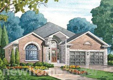 The Coral Gables new home model plan at the The Villages of Sally Creek by Claysam Homes in Woodstock