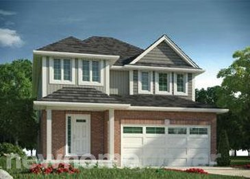 The Parkinson new home model plan at the Neighbourhoods of Devonshire by Claysam Homes in Woodstock