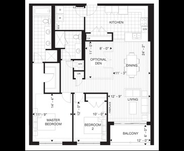 The Glastonbury new home model plan at the Villas of Avon by Tricar Group in Stratford