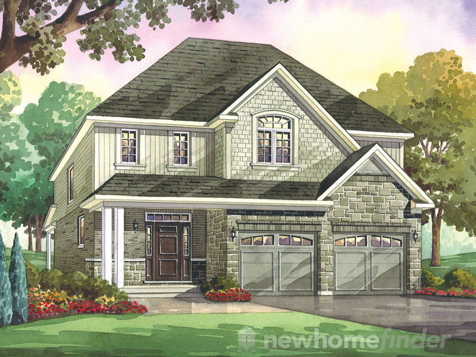 Pin Oak floor plan at Heritage Preserve by Kenmore Homes in Kitchener, Ontario