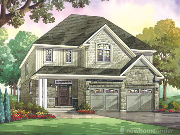 The Pin Oak new home model plan at the Heritage Preserve by Kenmore Homes in Kitchener