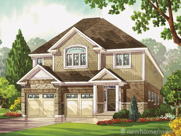The Bur Oak new home model plan at the Heritage Preserve by Kenmore Homes in Kitchener