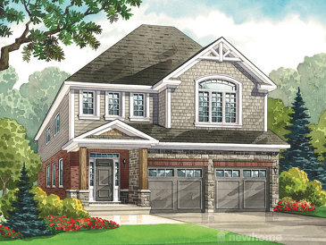 The Stone Pine new home model plan at the Heritage Preserve by Kenmore Homes in Kitchener
