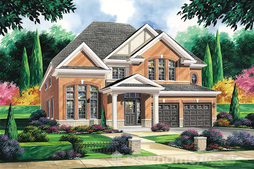 The Kingsley new home model plan at the Amber Meadows by Regal Homes in Strathroy