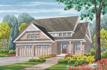 The Burgess new home model plan at the Havelock Corners by Senator Homes in Woodstock