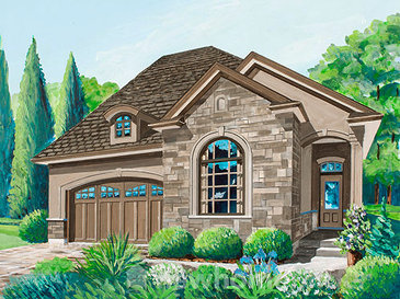The Bateman new home model plan at the The Legacy of Upper Richmond Village by Graystone Homes in London