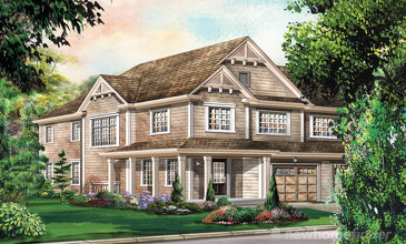 The Chelsea Corner new home model plan at the Avalon by Empire Communities in Caledonia