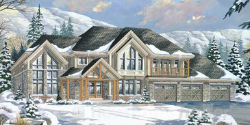 The Bluenose new home model plan at the Windrose Estates by MacPherson Builders in Collingwood