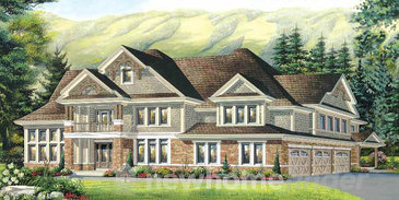 The Britannia new home model plan at the Windrose Estates by MacPherson Builders in Collingwood