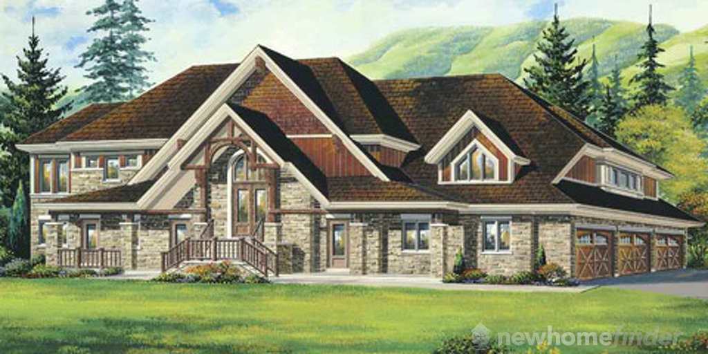 Clermont floor plan at Windrose Estates by MacPherson Builders in Collingwood, Ontario