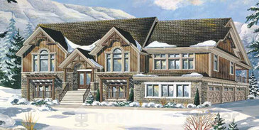 The Empire new home model plan at the Windrose Estates by MacPherson Builders in Collingwood