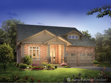 The Greensborough Craftsman new home model plan at the Westminster Highlands by Reid's Heritage Homes in Fergus