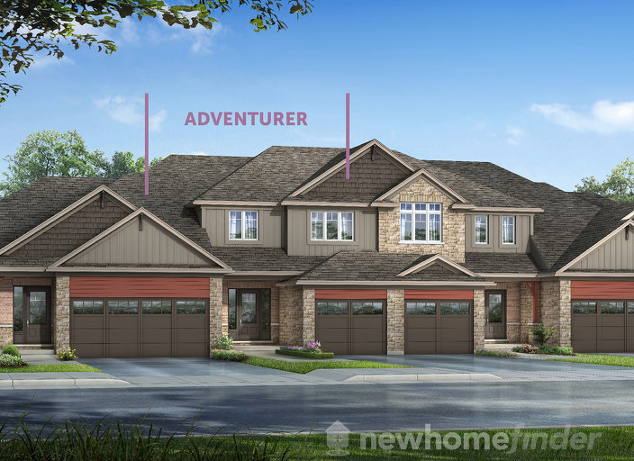 Adventurer floor plan at Silver Glen Preserve by Reid's Heritage Homes in Collingwood, Ontario