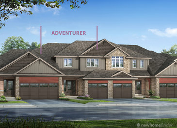 The Adventurer new home model plan at the Silver Glen Preserve by Reid's Heritage Homes in Collingwood