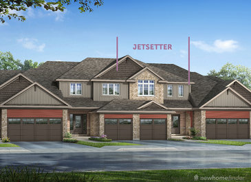 The Jetsetter new home model plan at the Silver Glen Preserve by Reid's Heritage Homes in Collingwood