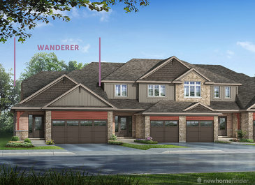 The Wanderer new home model plan at the Silver Glen Preserve by Reid's Heritage Homes in Collingwood
