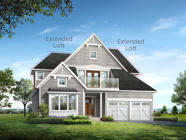 The Hartford new home model plan at the Cobble Beach by Reid's Heritage Homes in Kemble