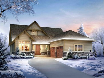 The Turnberry new home model plan at the Lora Bay by Reid's Heritage Homes in Thornbury