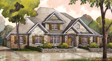 The Halton new home model plan at the Audrey Meadows by Charleston Homes in Aberfoyle