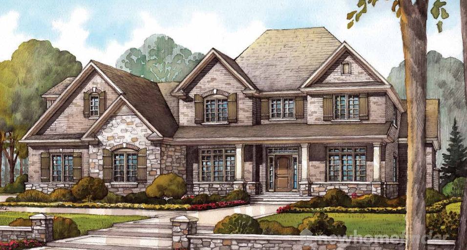 Kilbride floor plan at Audrey Meadows by Charleston Homes in Aberfoyle, Ontario