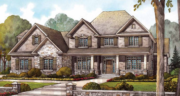 The Kilbride new home model plan at the Audrey Meadows by Charleston Homes in Aberfoyle