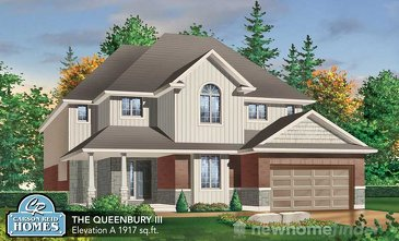 The Queensbury new home model plan at the Nature's Edge by Carson Reid Homes in Fergus