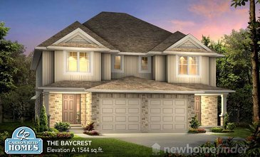 The Baycrest new home model plan at the Elora Meadows by Carson Reid Homes in Elora