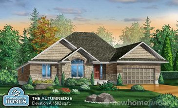 The Autumnedge new home model plan at the Elora Meadows by Carson Reid Homes in Elora