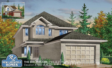 The Birchwood new home model plan at the Explorers Walk (NL) by New LifeStyle Homes in Kitchener