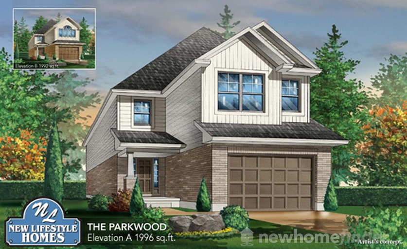 Parkwood floor plan at Explorers Walk (NL) by New LifeStyle Homes in Kitchener, Ontario