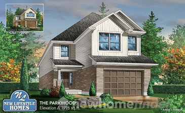 The Parkwood new home model plan at the Explorers Walk (NL) by New LifeStyle Homes in Kitchener