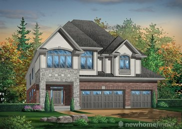 The Lakeview new home model plan at the Huron Village by Hawksview Homes in Kitchener