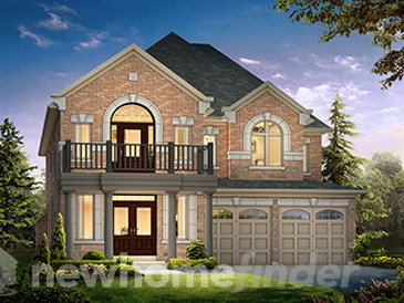 The Tanglewood new home model plan at the Hillsborough by Andrin Homes in  East Gwillimbury