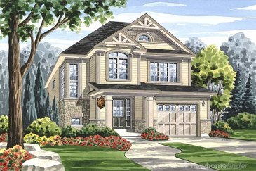 The Humber new home model plan at the Grand River Woods by Fernbrook Homes in Cambridge