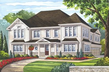 The Glencairn new home model plan at the Grand River Woods by Fernbrook Homes in Cambridge