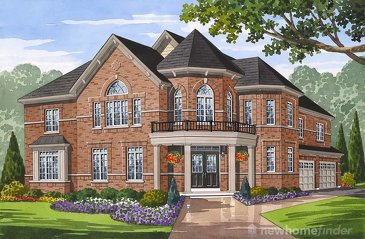 The Bridgeport new home model plan at the Grand River Woods by Fernbrook Homes in Cambridge
