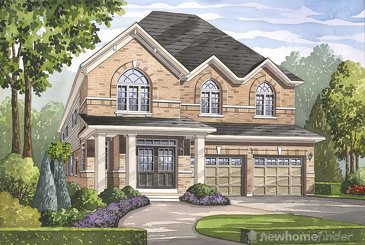 The Preston new home model plan at the Grand River Woods by Fernbrook Homes in Cambridge