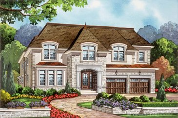 The Springwood new home model plan at the Royal Oakville Club by Fernbrook Homes in Oakville