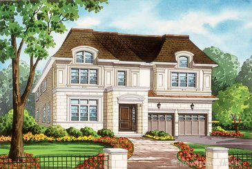 The Beechwood new home model plan at the Royal Oakville Club by Fernbrook Homes in Oakville