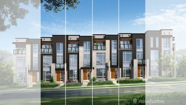 The Astor new home model plan at the Coronation Towns by Fernbrook Homes in Vaughan