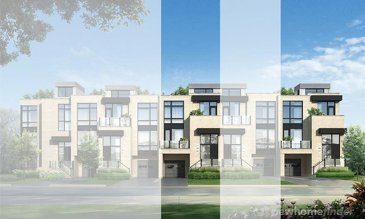 The Envision new home model plan at the Widdicombe & Eglinton by Fernbrook Homes in Toronto