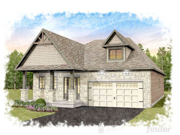 The Cambrian new home model plan at the Heritage Lane by Granite Homes in Fergus