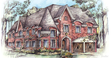 The Roundleaf new home model plan at the Silver by Aberdeen Homes in Mississauga