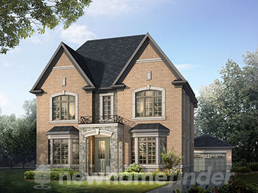 The Hillcrest new home model plan at the Vales of Humber by Queens Gate in Brampton