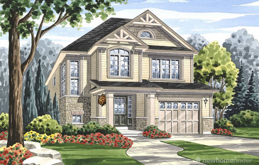 The Humber new home model plan at the Grand River Woods (Cr) by Crystal Homes in Cambridge