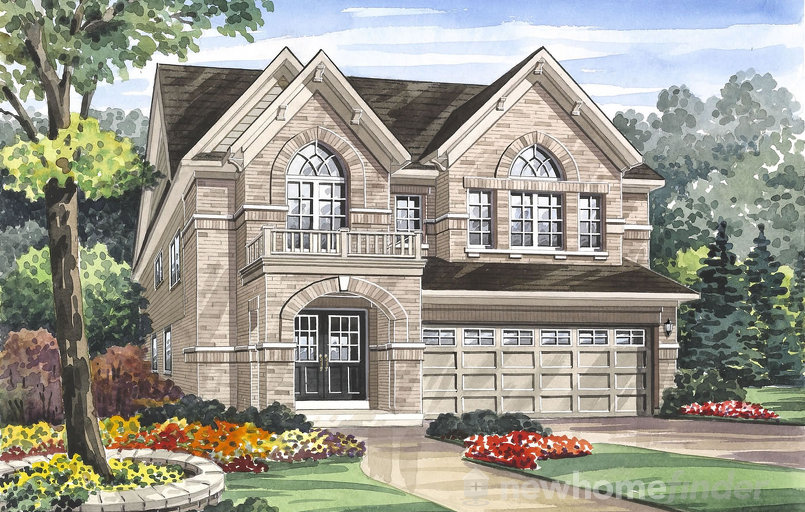 Edenvale floor plan at Grand River Woods (Cr) by Crystal Homes in Cambridge, Ontario