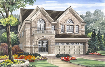 The Edenvale new home model plan at the Grand River Woods (Cr) by Crystal Homes in Cambridge
