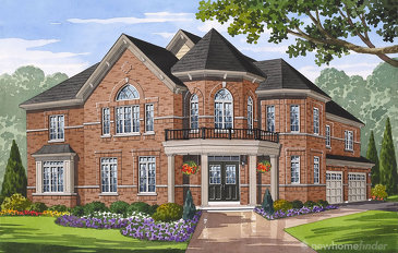 The Bridgeport new home model plan at the Grand River Woods (Cr) by Crystal Homes in Cambridge