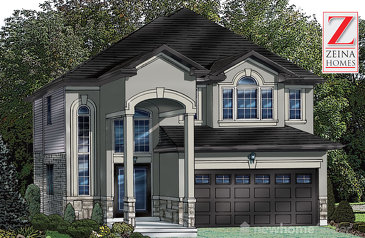 The Stone Ridge new home model plan at the Vienna Orchards by Zeina Homes in Hamilton